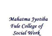 Assistant Professor Jobs at Mahatma Jyotiba Fule College of Social Work